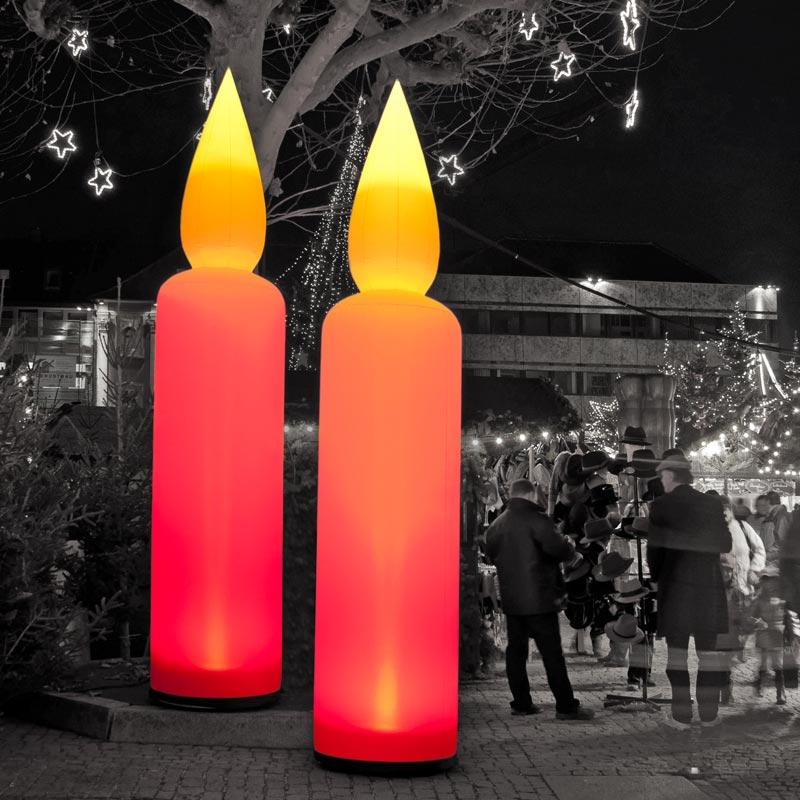 CANDLE Aufblasbare Leuchtskulptur Für Festliche Themen