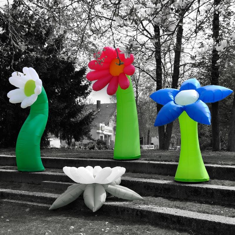 FLOWER Aufblasbar & Farbenfrohe Blumen Für Den Indoor- Und Outdoorbereich
