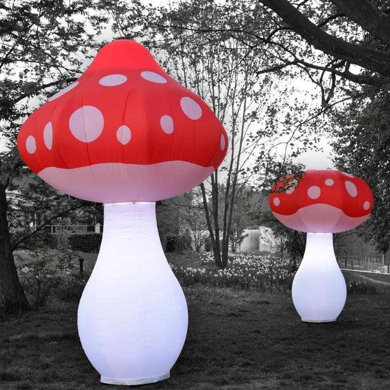 FUNGU Aufblasbare Leuchtskulptur Als Pilzform