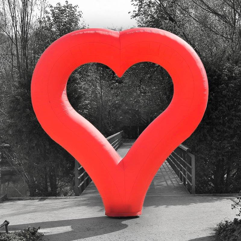 HEART Rotes Aufblasbares Herz