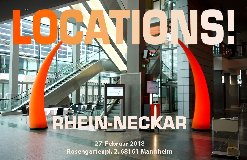 LOCATIONS! Rhein-Neckar Am 27. Februar In Mannheim