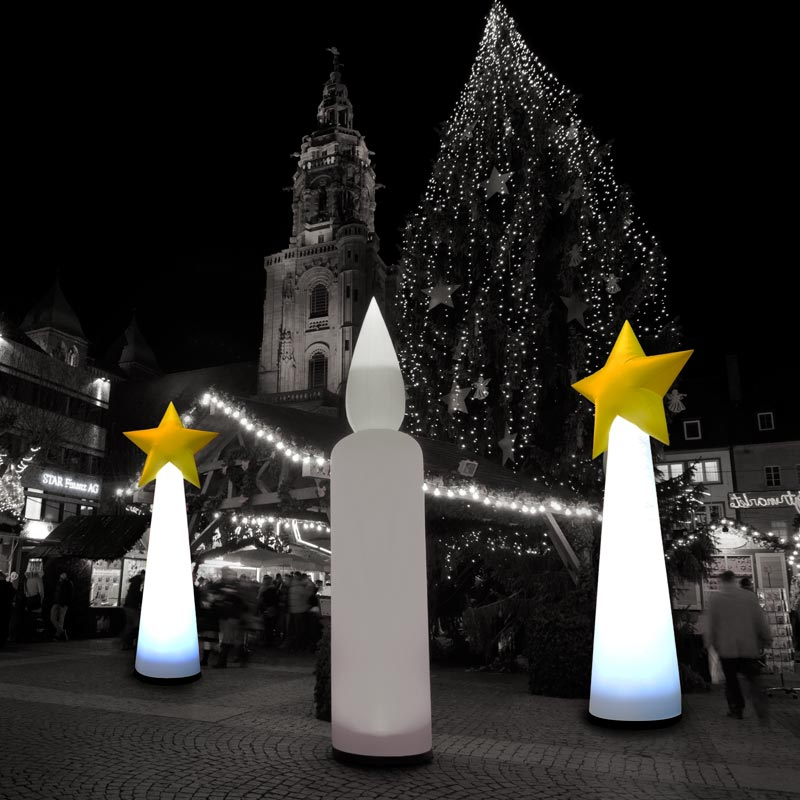 STARCONE Aufblasbare Leuchtskulpturen Für Festliche Themen