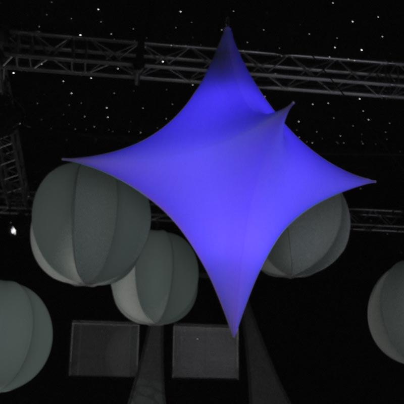 STAR 3D  Abstrakter Beleuchtungskörper In 3D-Form